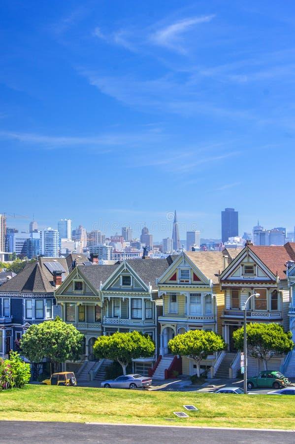 Χρωματισμένες κυρίες, Σαν Φρανσίσκο στοκ εικόνες
