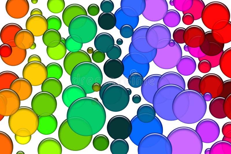 Χρωματισμένες φυσαλίδες ελεύθερη απεικόνιση δικαιώματος