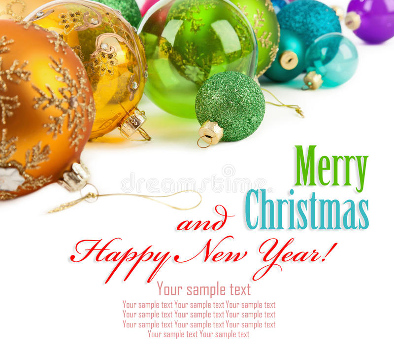 Χρωματισμένες Χριστούγεννα σφαίρες στοκ φωτογραφίες με δικαίωμα ελεύθερης χρήσης