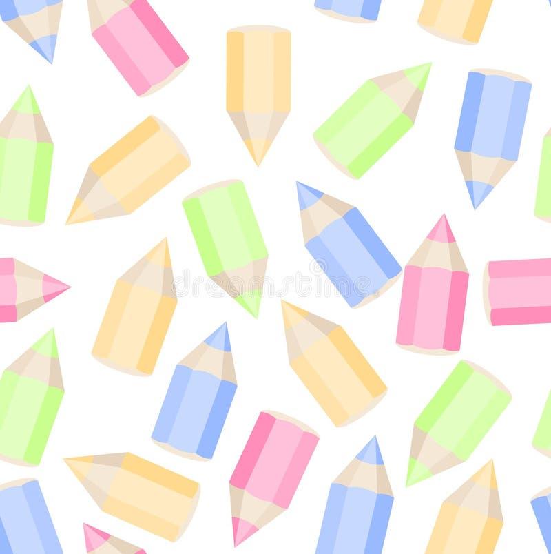 Χρωματισμένη άνευ ραφής σύσταση μολυβιών στοκ εικόνα με δικαίωμα ελεύθερης χρήσης