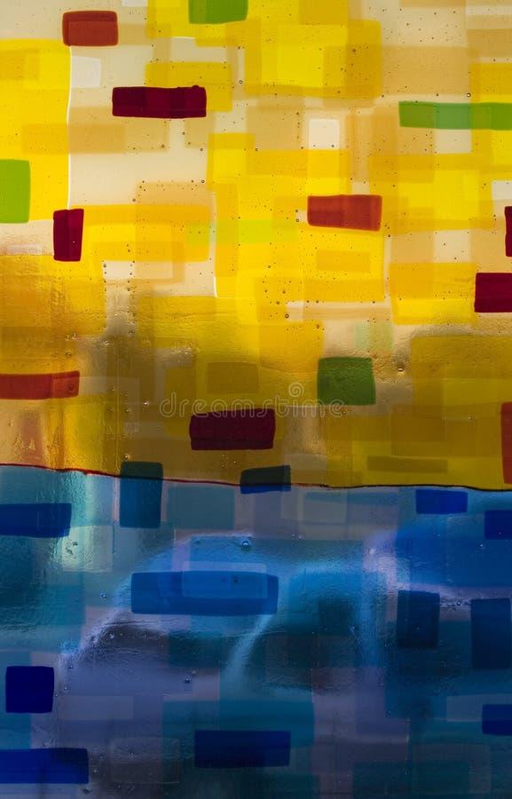 Χρωματισμένη αφηρημένη σύσταση γυαλιού με τις φυσαλίδες στοκ φωτογραφία με δικαίωμα ελεύθερης χρήσης
