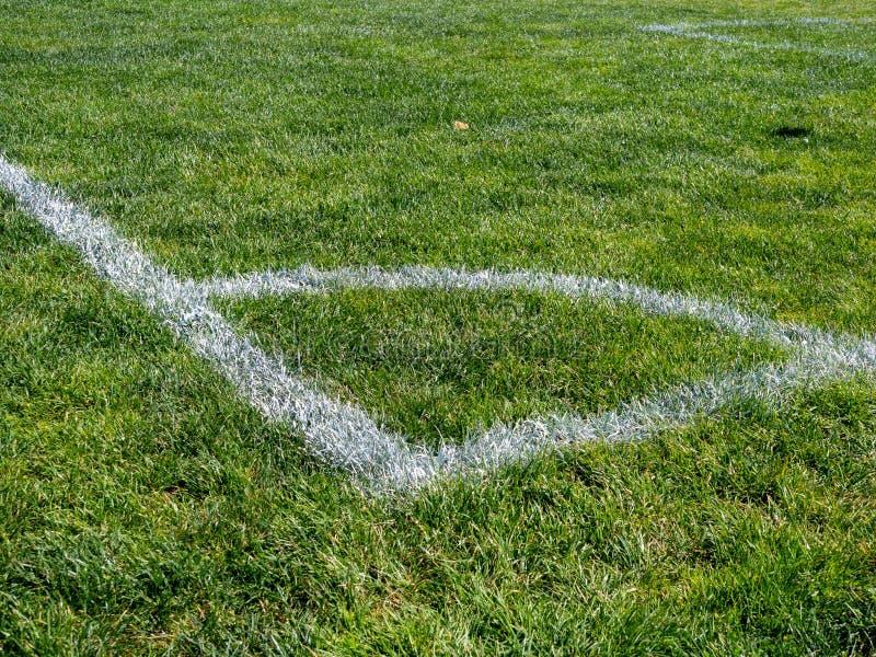 Χρωματισμένη γωνία του αθλητικού τομέα του ποδοσφαίρου, λακρός, χόκεϋ τομέων, παιχνίδι στοκ φωτογραφία με δικαίωμα ελεύθερης χρήσης