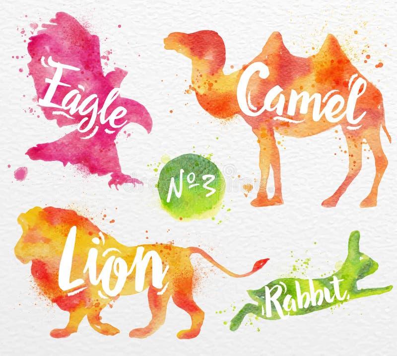 Χρωματισμένη καμήλα ζώων απεικόνιση αποθεμάτων