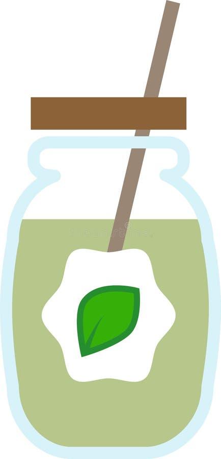 Χρωματισμένη κούπα γυαλιού εικονιδίων με έναν σωλήνα απεικόνιση αποθεμάτων