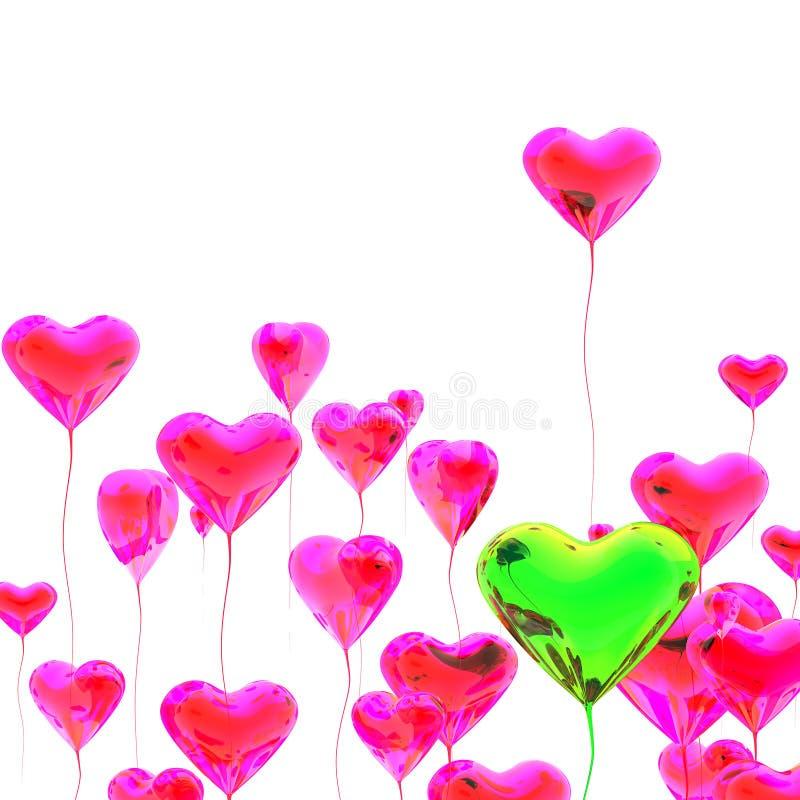 Download χρωματισμένη μπαλόνι καρδιά πολυ Απεικόνιση αποθεμάτων - εικονογραφία από μετεωρισμός, ζωηρόχρωμος: 22795171