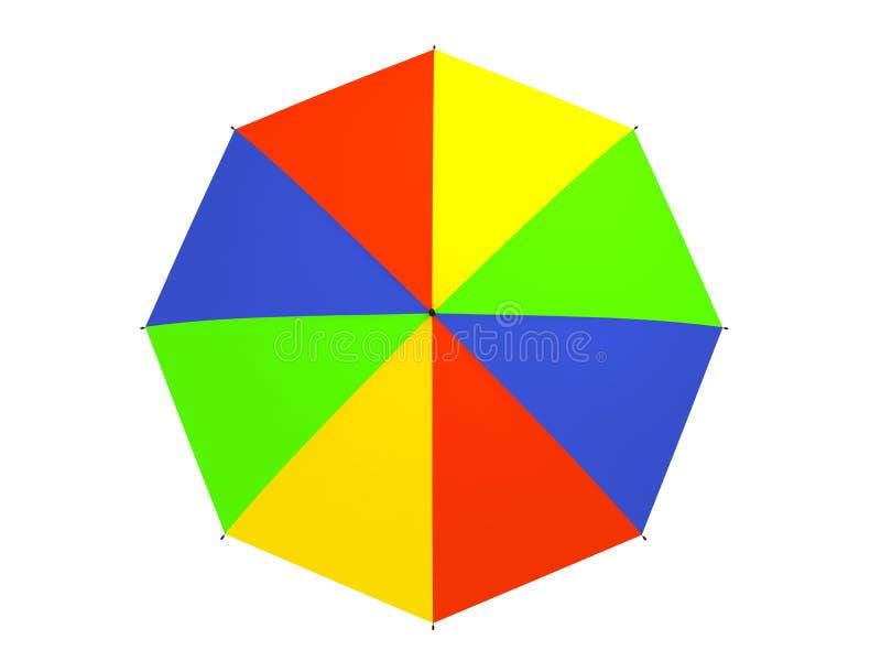 χρωματισμένη ομπρέλα διανυσματική απεικόνιση