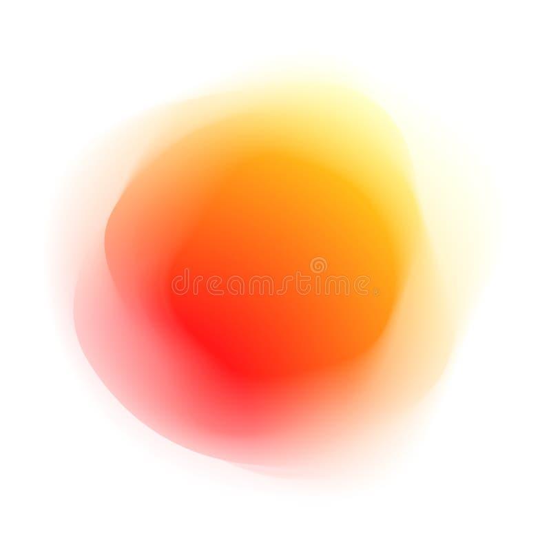 Χρωματισμένη περίληψη μορφή διανυσματική απεικόνιση