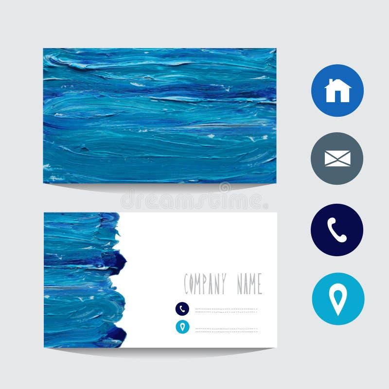 Χρωματισμένη πετρέλαιο επαγγελματική κάρτα απεικόνιση αποθεμάτων