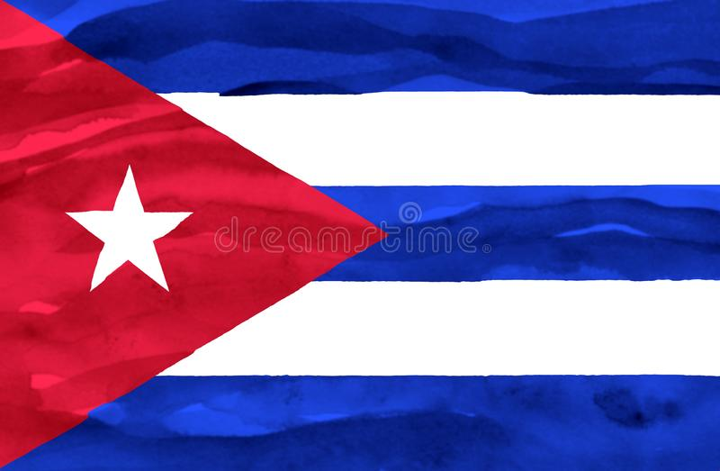 Χρωματισμένη σημαία της Κούβας στοκ φωτογραφία
