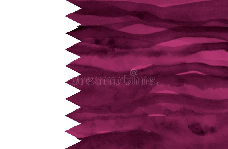 Χρωματισμένη σημαία του Κατάρ στοκ φωτογραφία