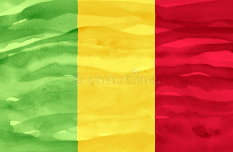 Χρωματισμένη σημαία του Μαλί στοκ φωτογραφία με δικαίωμα ελεύθερης χρήσης