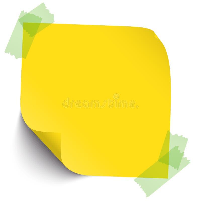 Χρωματισμένη σημείωση με την κολλώδη ταινία απεικόνιση αποθεμάτων