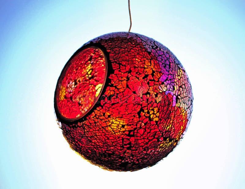 Χρωματισμένη σφαίρα γυαλιού στοκ εικόνα