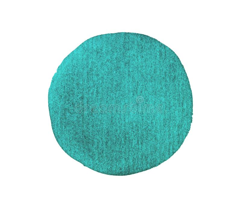 Χρωματισμένη χέρι σταγόνα μελανιού Συρμένος χέρι grunge κύκλος : στοκ φωτογραφία