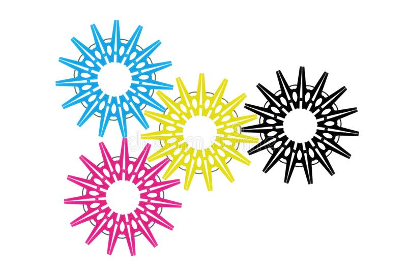 Χρωματισμένη CMYK έννοια στοκ εικόνες