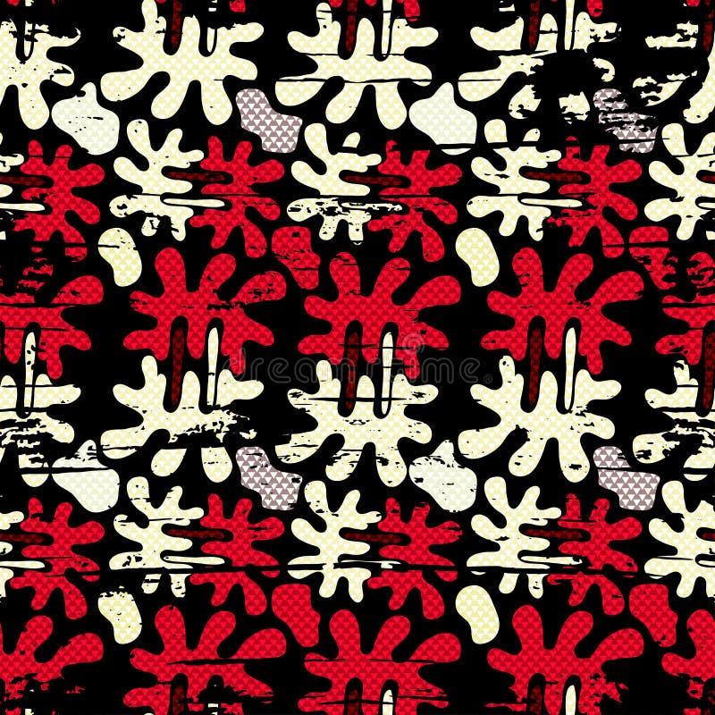 Download Χρωματισμένη Grunge διανυσματική απεικόνιση σχεδίων γκράφιτι άνευ ραφής Απεικόνιση αποθεμάτων - εικονογραφία από χρώμα, γραφικός: 62722210