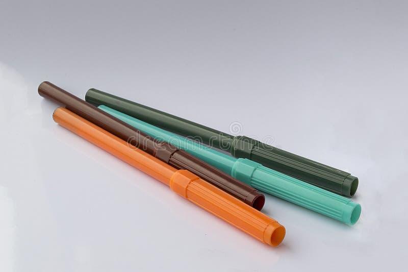 χρωματισμένοι δείκτες στοκ εικόνα
