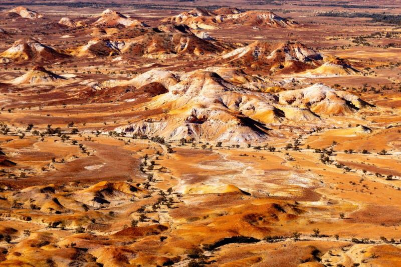 Χρωματισμένοι κολπίσκος λόφοι της Anna, Νότια Αυστραλία, Αυστραλία στοκ εικόνα