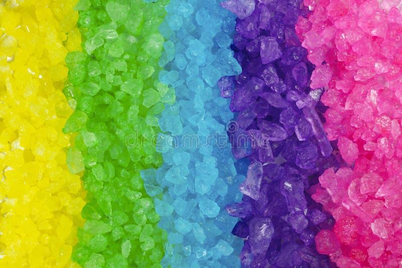 χρωματισμένος ανασκόπηση βράχος ουράνιων τόξων κρυστάλλου πολυ στοκ εικόνες