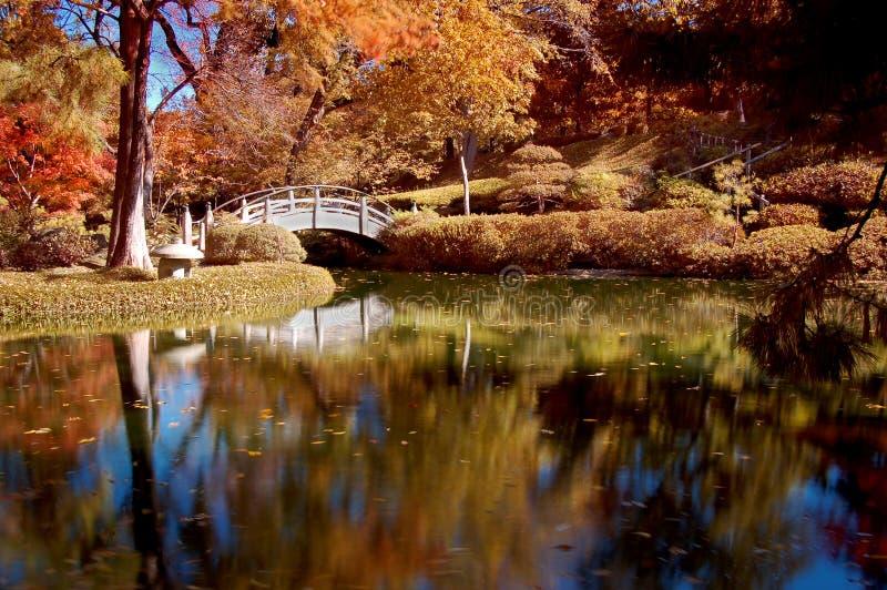 χρωματισμένος κήπος ιαπω&nu στοκ φωτογραφία με δικαίωμα ελεύθερης χρήσης