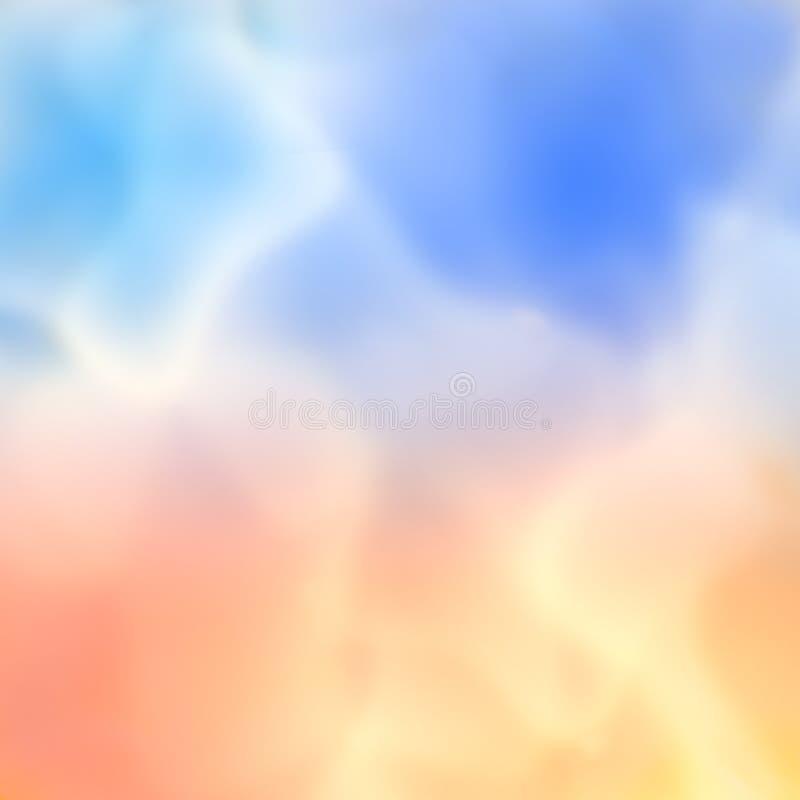 χρωματισμένος καπνός διανυσματική απεικόνιση
