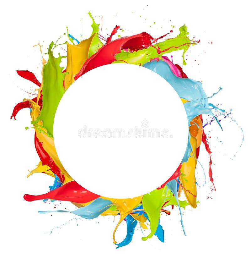 Χρωματισμένος κύκλος στοκ εικόνες
