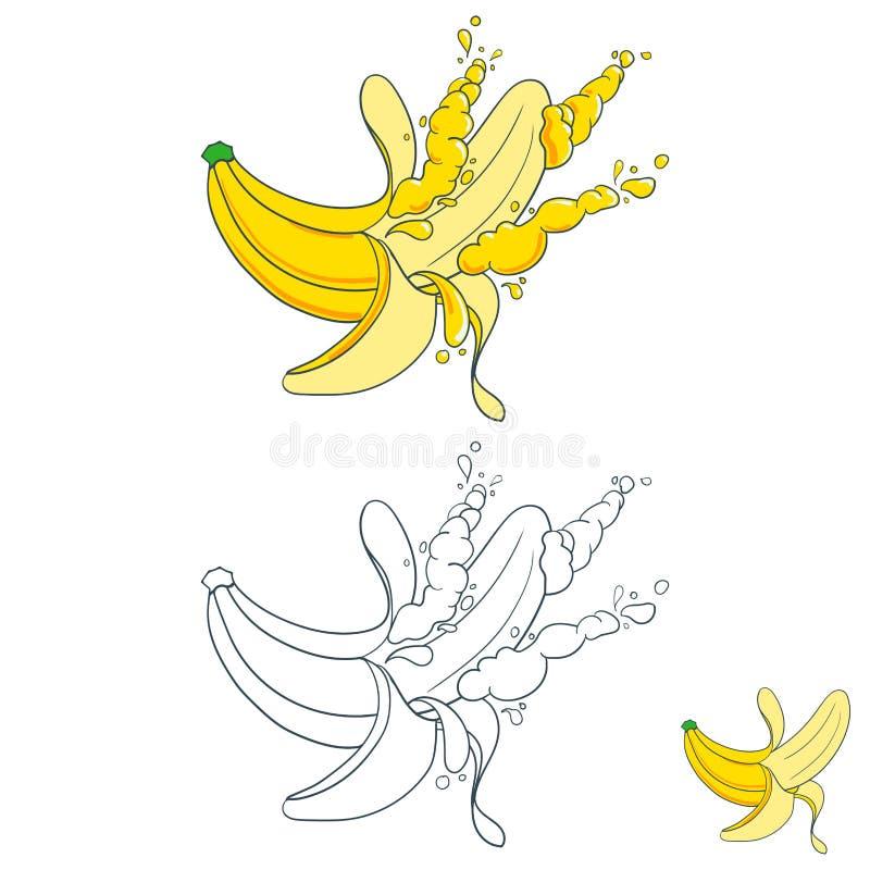 Χρωματισμένος με τους παφλασμούς του χυμού φρούτων ελεύθερη απεικόνιση δικαιώματος