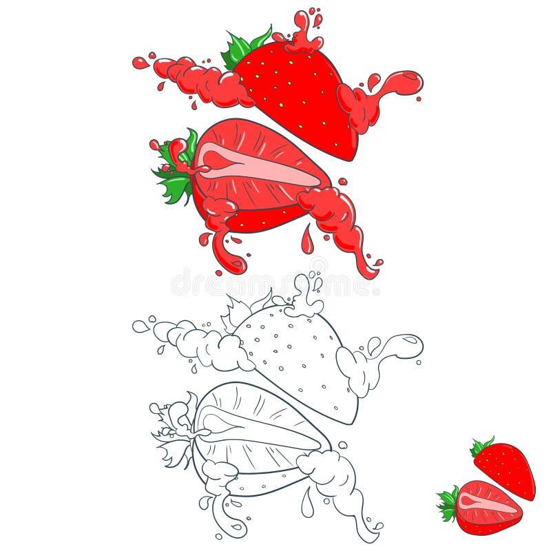 Χρωματισμένος με τους παφλασμούς του χυμού φρούτων διανυσματική απεικόνιση