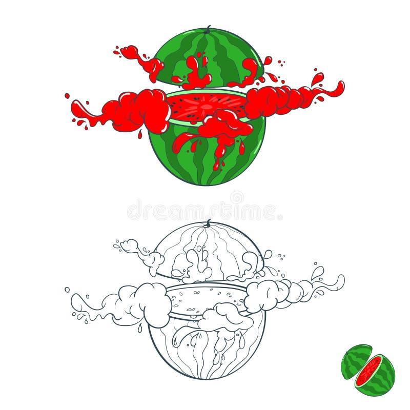 Χρωματισμένος με τους παφλασμούς του χυμού φρούτων απεικόνιση αποθεμάτων