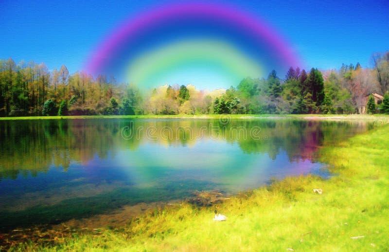 χρωματισμένος παράδεισο&s διανυσματική απεικόνιση