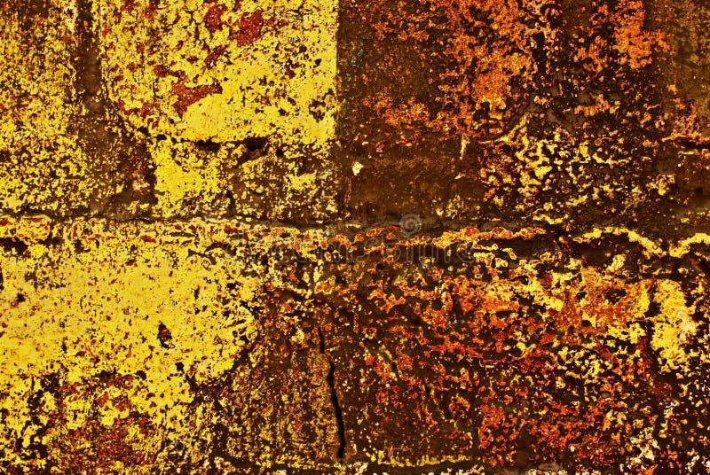 χρωματισμένος τοίχος τούβλου grunge διανυσματική απεικόνιση