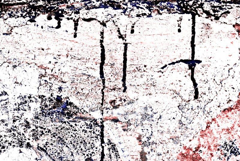 χρωματισμένος τοίχος τούβλου grunge ελεύθερη απεικόνιση δικαιώματος