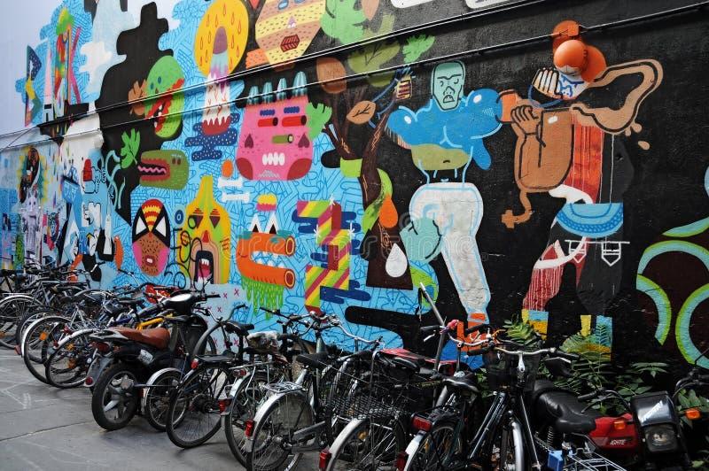 χρωματισμένος τοίχος στοκ εικόνες με δικαίωμα ελεύθερης χρήσης