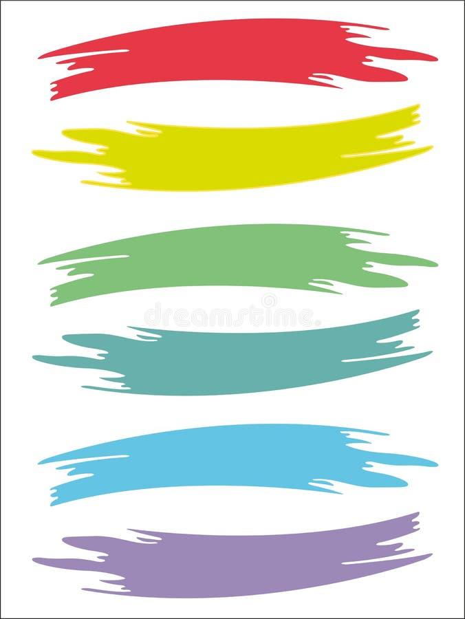 Χρωματισμένος brushstrokes εξασθενισμένος αναδρομικός απεικόνιση αποθεμάτων