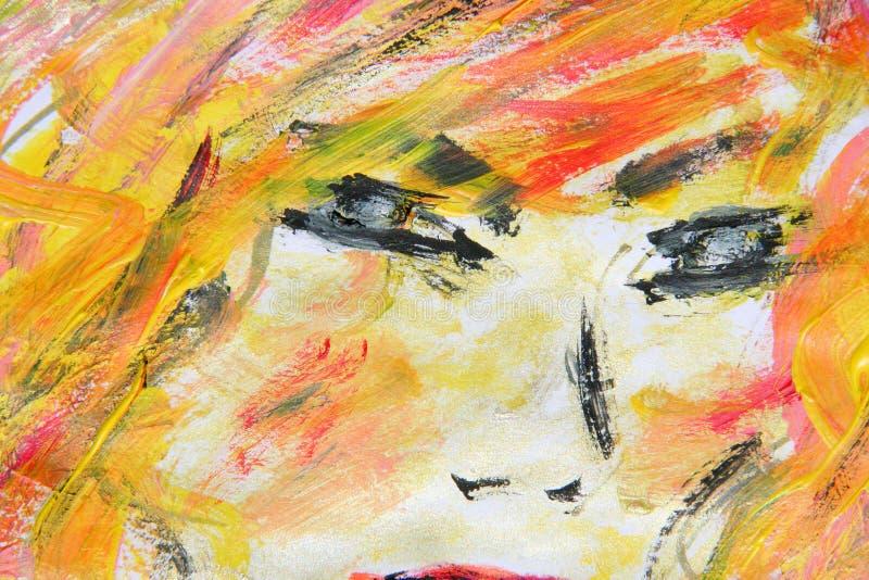 χρωματισμένο έργο τέχνης έγγραφο στοκ εικόνες