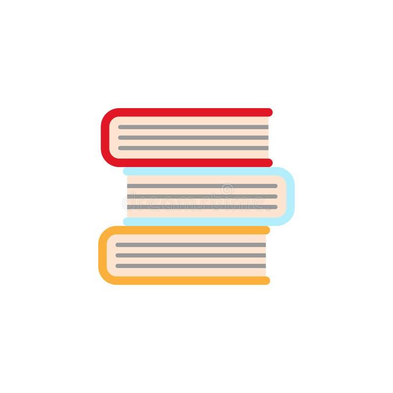 χρωματισμένο βιβλία εικονίδιο Στοιχείο του εικονιδίου απεικόνισης εκπαίδευσης r Σημάδια και εικονίδιο συλλογής συμβόλων για στοκ εικόνες