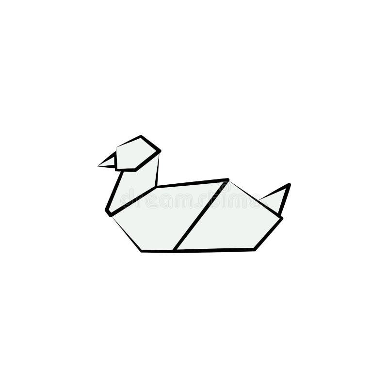 χρωματισμένο γλάρος εικονίδιο ύφους origami Στοιχείο του εικονιδίου ζώων Φιαγμένο από έγγραφο στην τεχνική origami το διανυσματικ διανυσματική απεικόνιση
