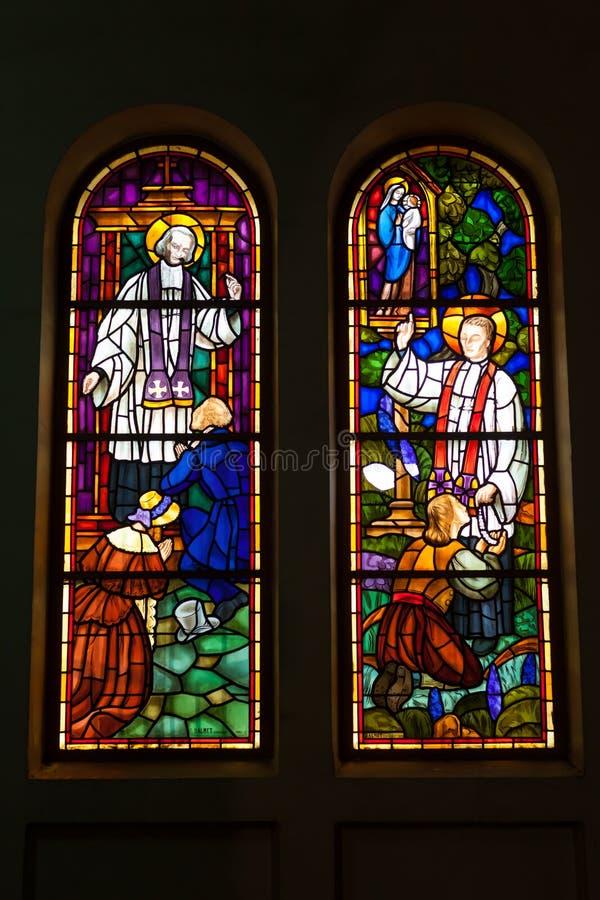 Χρωματισμένο γυαλί, λεκιασμένη εκκλησία παραθύρων γοτθική στοκ φωτογραφία με δικαίωμα ελεύθερης χρήσης