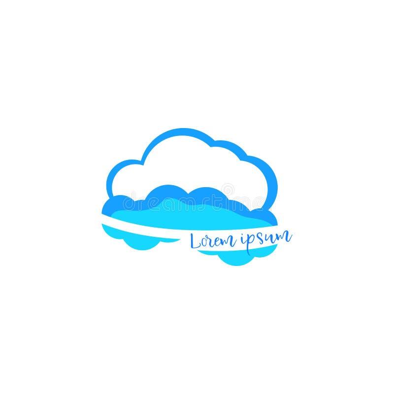 Χρωματισμένο διάνυσμα εικονίδιο σύννεφων, που απομονώνεται στο άσπρο υπόβαθρο στοκ εικόνες με δικαίωμα ελεύθερης χρήσης