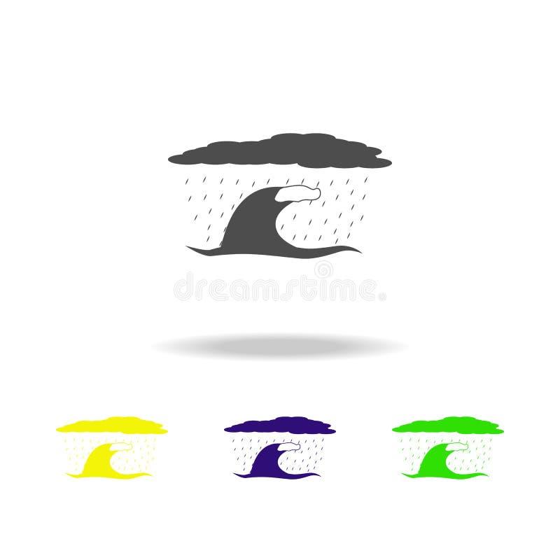 χρωματισμένο εικονίδιο αέρα εν πλω Στοιχείο χρωματισμένου του καιρός εικονιδίου Μπορέστε να χρησιμοποιηθείτε για τον Ιστό, λογότυ απεικόνιση αποθεμάτων