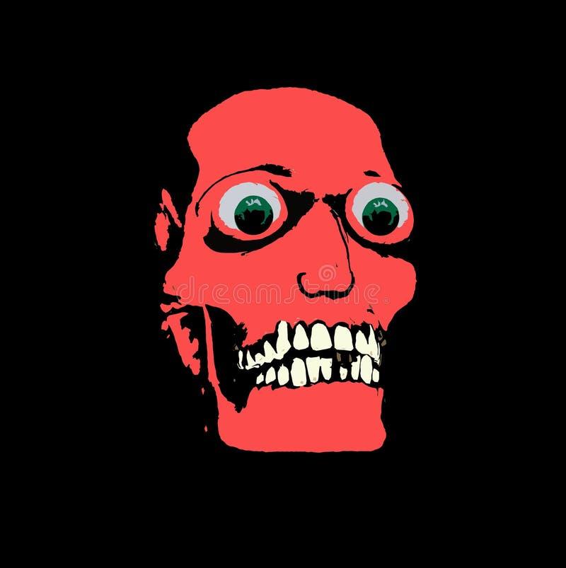 Χρωματισμένο κρανίο με τα μάτια διανυσματική απεικόνιση