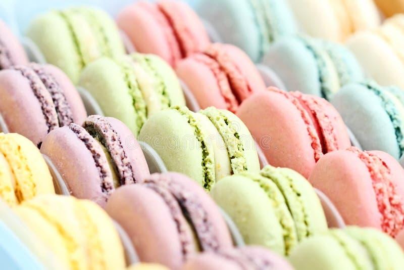 Χρωματισμένο κρητιδογραφία Macarons στοκ εικόνες με δικαίωμα ελεύθερης χρήσης