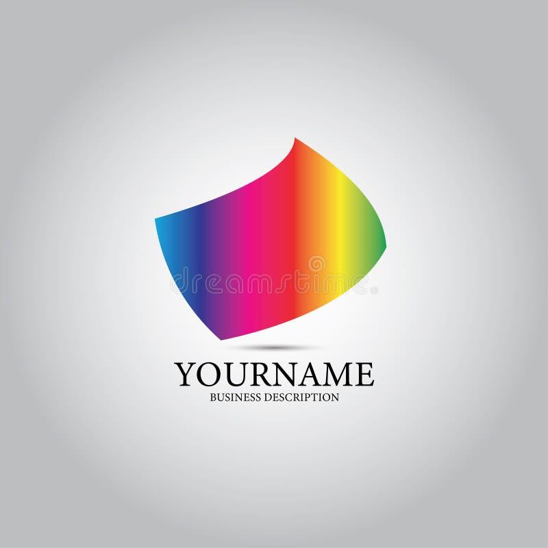 Χρωματισμένο λογότυπο σχεδίου οθόνης διανυσματική απεικόνιση