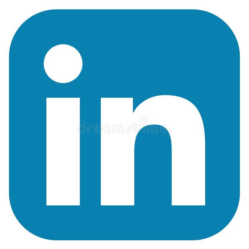Χρωματισμένο λογότυπο LinkedIn στοκ εικόνες με δικαίωμα ελεύθερης χρήσης
