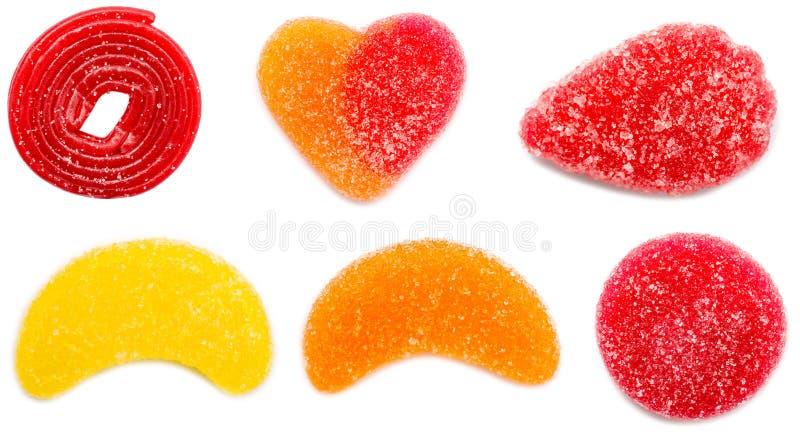 Χρωματισμένο μίγμα ποικιλίας ζελατίνας στοκ φωτογραφίες με δικαίωμα ελεύθερης χρήσης