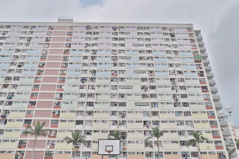 Χρωματισμένο ουράνιο τόξο κρεμασμένο Choi κτήμα HK διαμερισμάτων στοκ φωτογραφίες με δικαίωμα ελεύθερης χρήσης