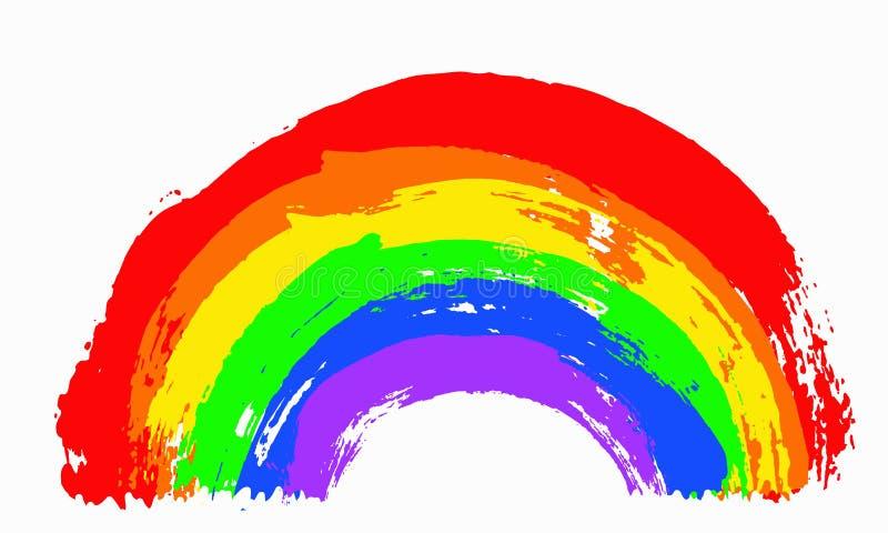 χρωματισμένο ουράνιο τόξο απεικόνιση αποθεμάτων
