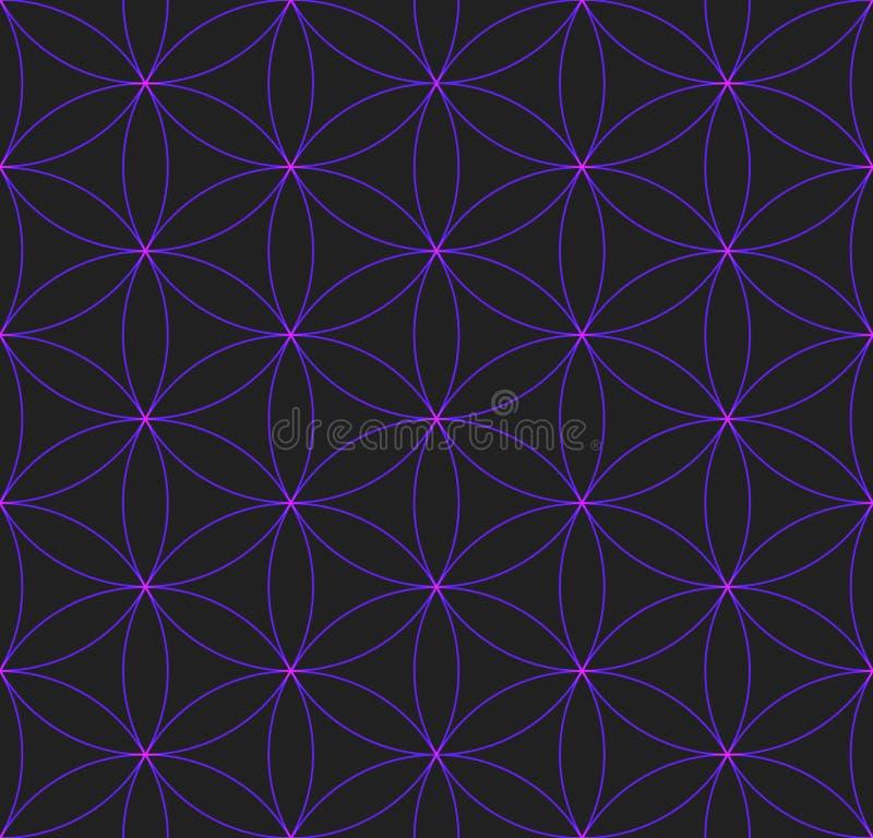 Χρωματισμένο λουλούδι του ιερού σχεδίου γεωμετρίας ζωής ελεύθερη απεικόνιση δικαιώματος