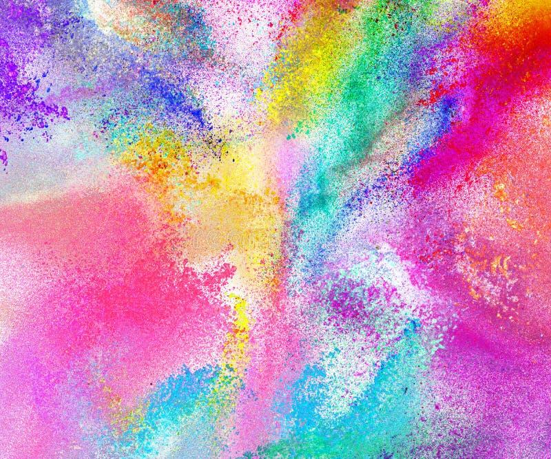 Χρωματισμένο περίληψη υπόβαθρο σκονών ελεύθερη απεικόνιση δικαιώματος
