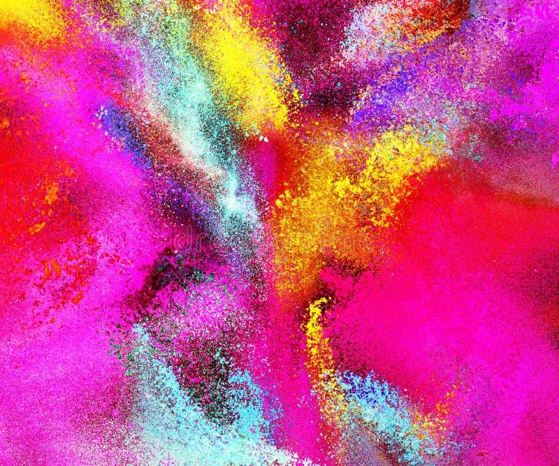 Χρωματισμένο περίληψη υπόβαθρο σκονών απεικόνιση αποθεμάτων